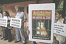 Protestan contra zoológico y solicitan liberar animales