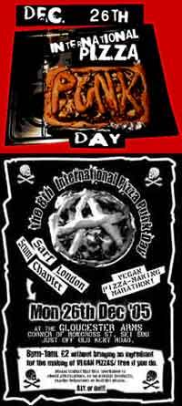 El día internacional de pizza punk: 26 de diciembre
